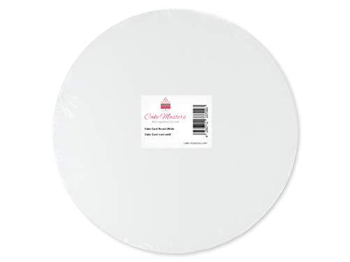 Cakecard, rund, 20cm, weiß, 3 Stück