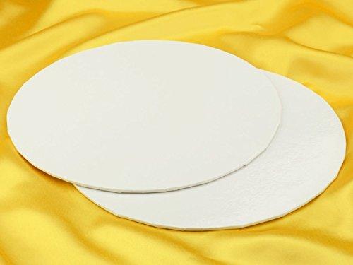 Cakecard, rund, 25cm, weiß, 3 Stück